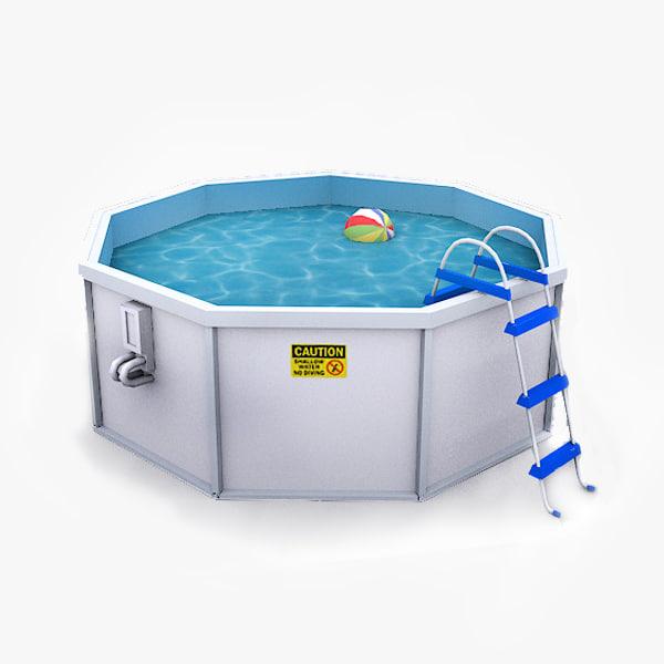 3d model outdoor water pool
