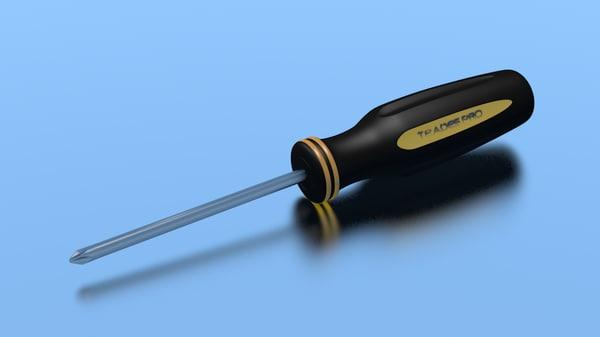obj realistic screwdriver