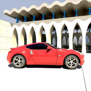 nissan 370z fairlady car obj