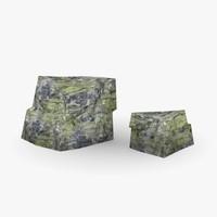 3d model stones rock