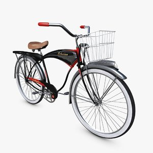 bicycle 1949 schwinn black 3d model