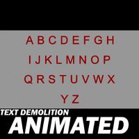 alphabet letters demolition 3d model