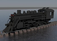 steam locomotive 3d obj