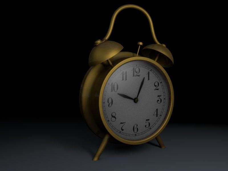 clock arlarm 3d c4d