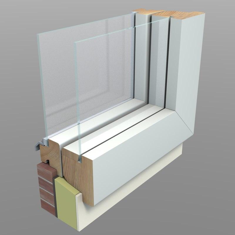 3d model cut away window