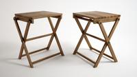 3d model wooden stool