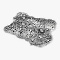 3d model of rocks pile