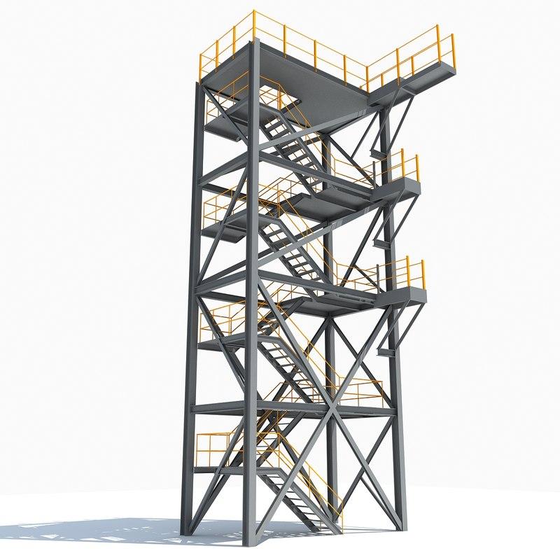 maya industrial tower