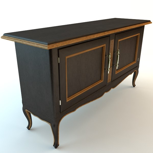3ds max antique buffet cabinet - Max Antique Buffet Cabinet