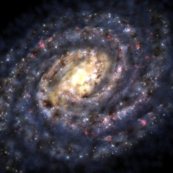 3dsmax milky way home galaxy