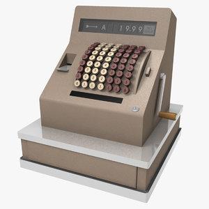 3d retro cash register