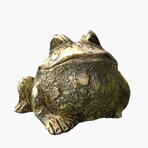 3d toad statue
