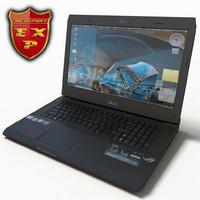 3d model notebook asus g73jhs
