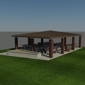 3d max covered patio