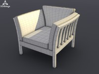 3d model chair armchair