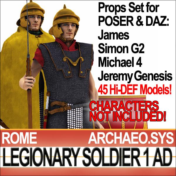 props set daz ancient rome 3d model