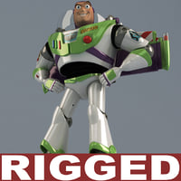 3ds max buzz lightyear rigged