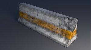 free blend model concrete road barrier