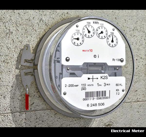 3d model electrical meter