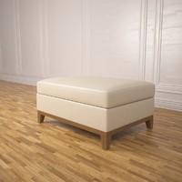 3d model ottoman footrest