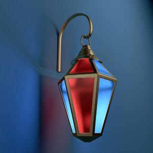arabic lantern 3d model