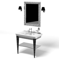 Lineatre parigi classic washbasin mirror lavatory tap fucet set bathroom furniture