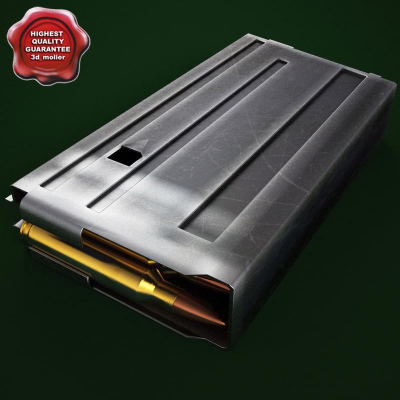 m16 magazine 3d model