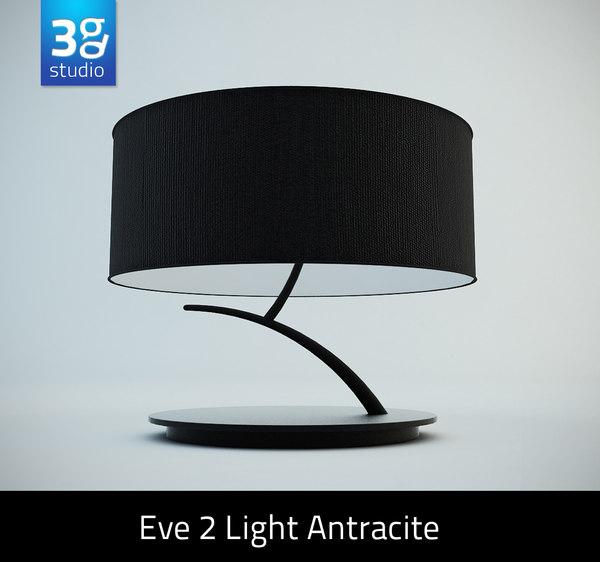 eve 2 light antracite 3d model