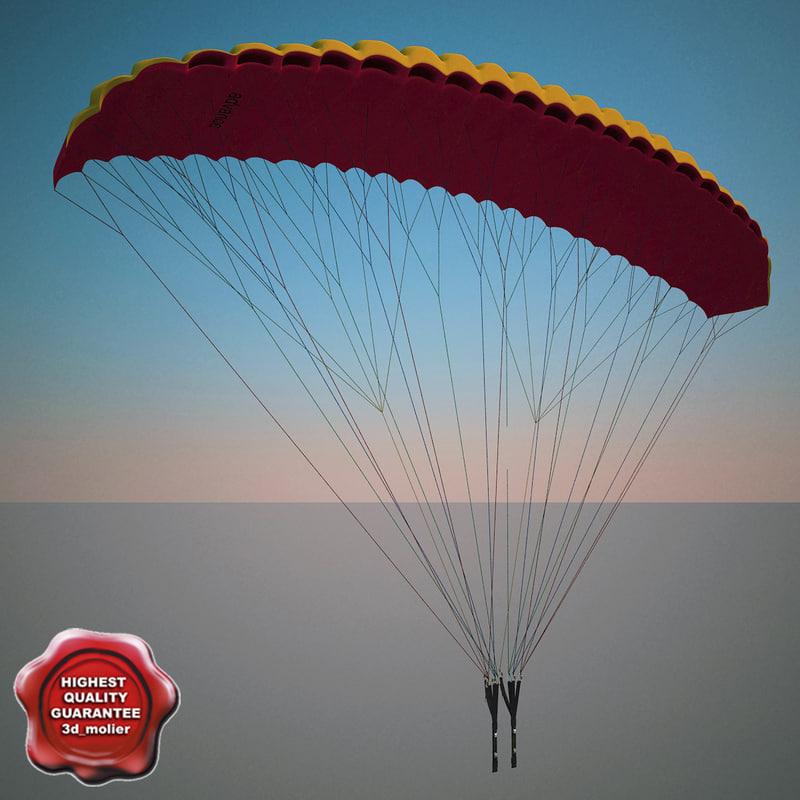 paragliding modelled drop 3d 3ds