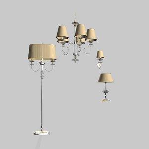 3d paralume marina chandelier lamp