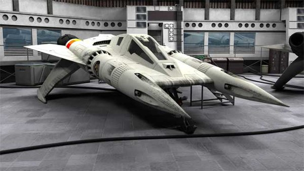 buck rogers starfighter 3d model