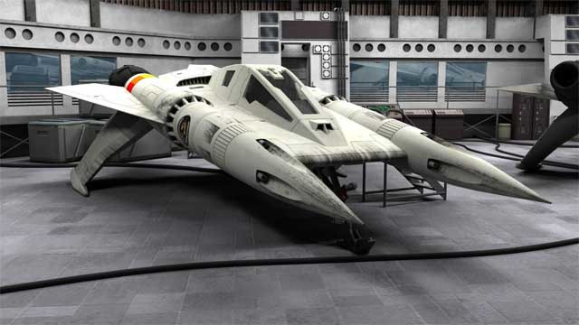 buck rogers starfighter 3d model