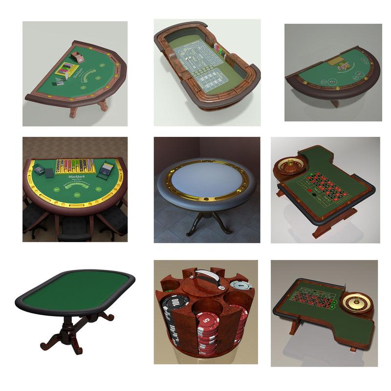 casino tables 3d max