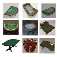 casino tables 3d max