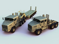 heavy equipment transporters het 3d max