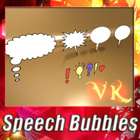 3d model speech bubbles