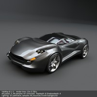 3d coupe concept car