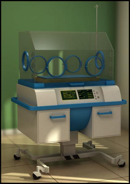 3d model infant incubator
