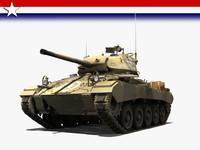 3d model tanks m24