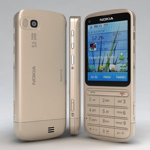 3d model nokia -01 touch type