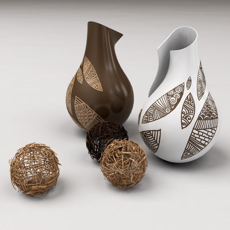 vases bamboo stick ball 3ds