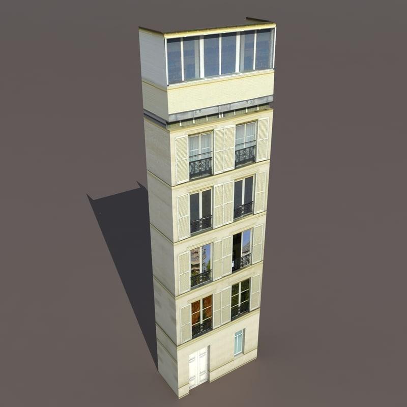 Building exterior 3d model for Exterior 3d model