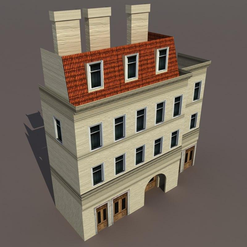 building exterior 3d model