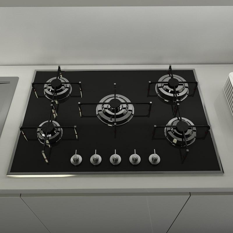 3ds max cooktop smeg px-750