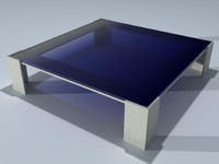 maya modern square coffee table
