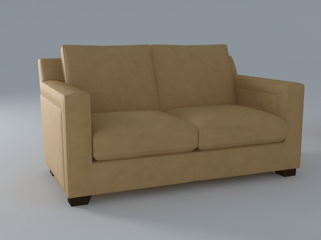 2 seat 3d model