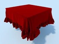 3dsmax table cloth tablecloth