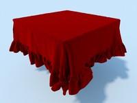 3dsmax table cloth tablecloth