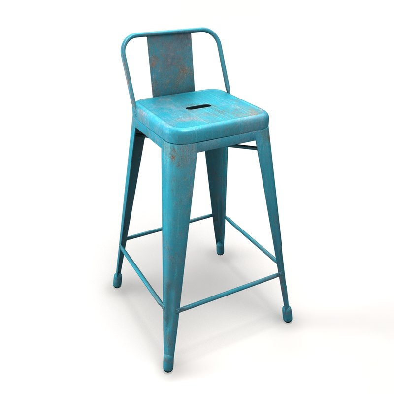 3ds max chair barstool tolix