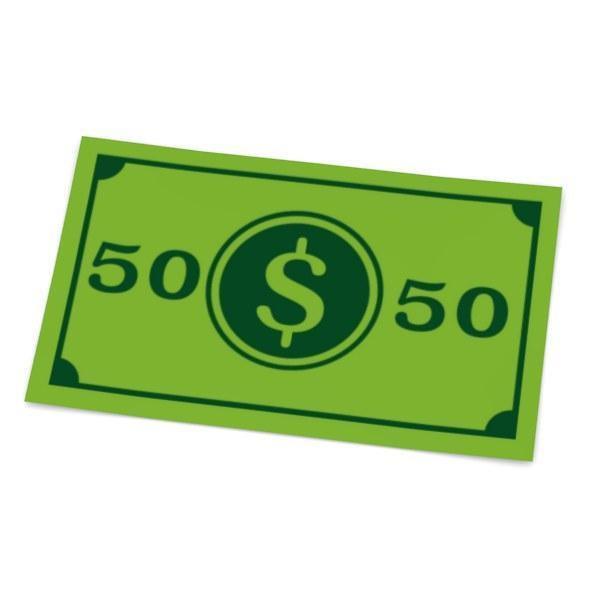 3d cartoon money 50 model